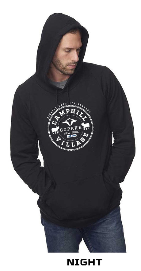 Hoodie 100% Organic Cotton Design: College, Color: Night (black)