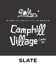 Hoodie 100% Organic Cotton Design: Camphill Village, Color: Slate (grey)