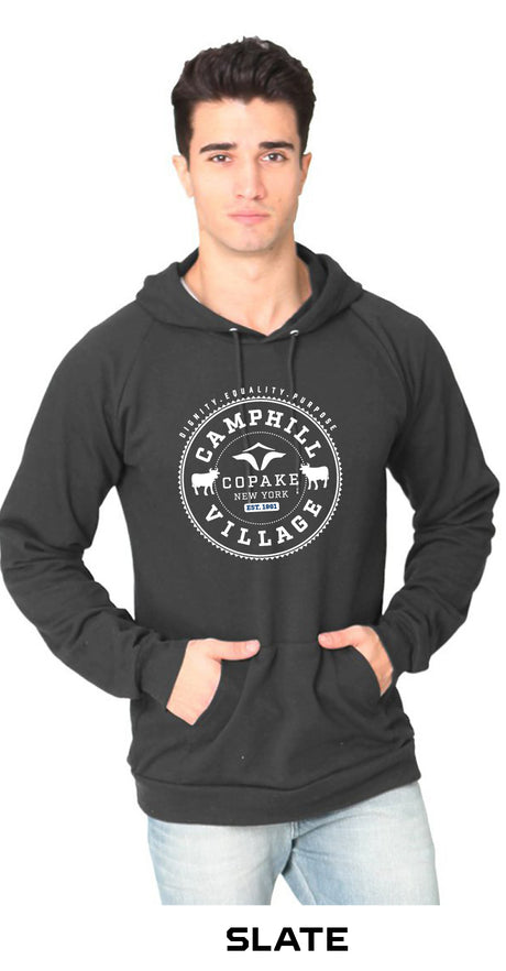 Hoodie 100% Organic Cotton Design: College, Color: Slate (grey)