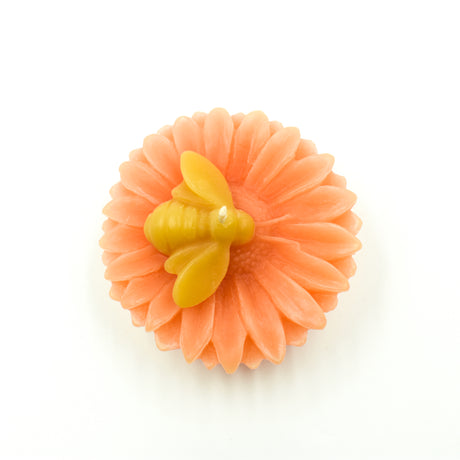 Flower with Bee (Apricot)