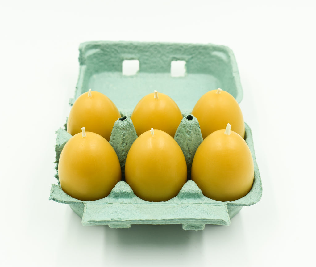 Easter Egg Candles 6 pack Carton- Pure Beeswax