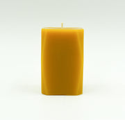 Prism Pillar Candle - Pure Beeswax