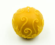 Rustic Fern Ball - Pure Beeswax