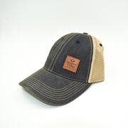 Vintage-Inspired Trucker Cap with Leather Patch