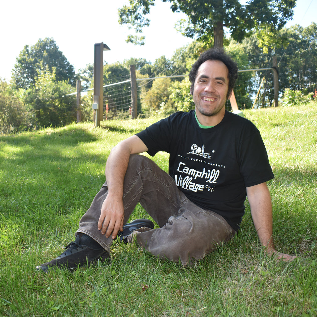 Short sleeve T-shirt 100% Organic Cotton, Design: Camphill Village Copake, NY