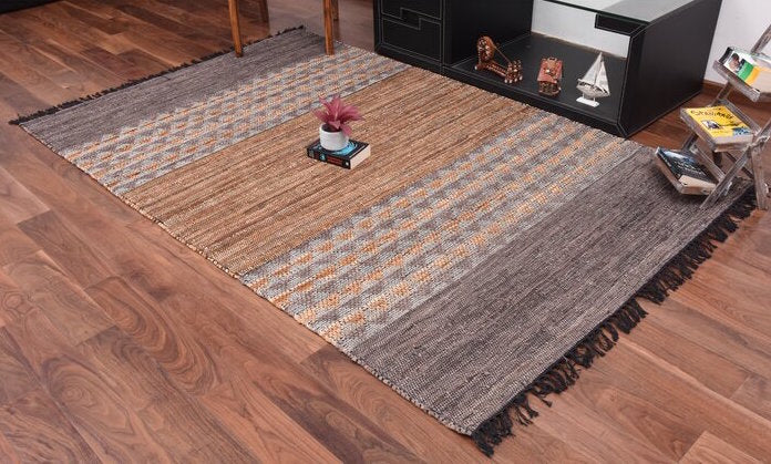 Falcon Leather Rug