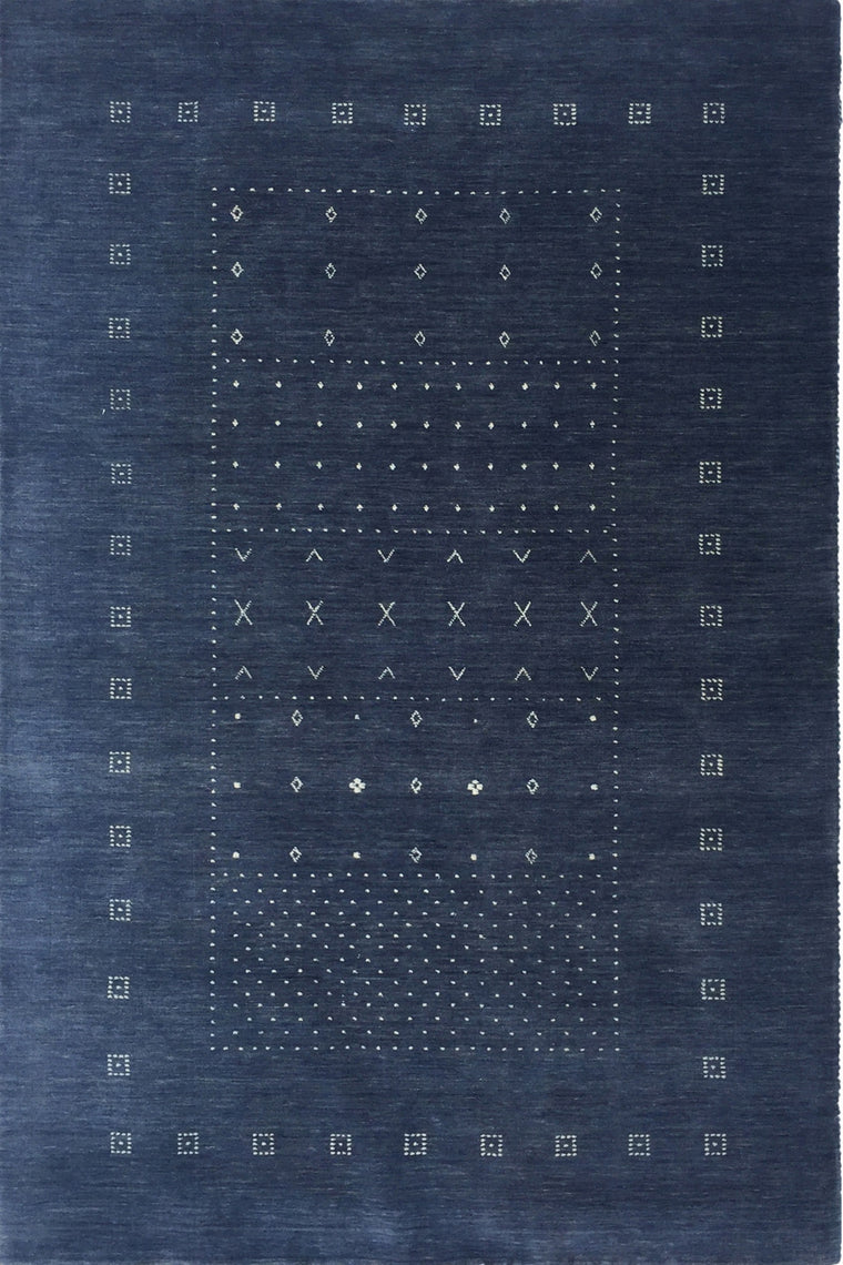 Clara Blue hand knotted wool Rug