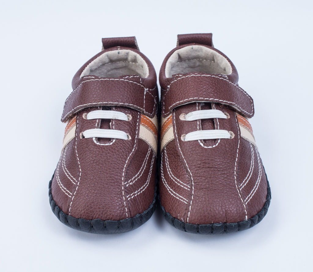 Charlie / Sporty Brown Stripe - JEMOS SHOE OF THE MONTH