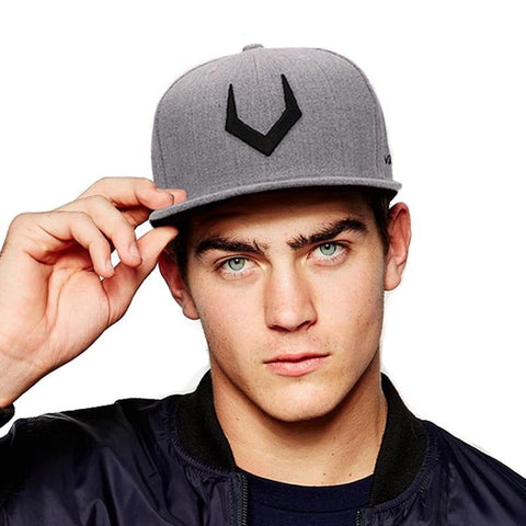 Grey wool snapback  3D Cap