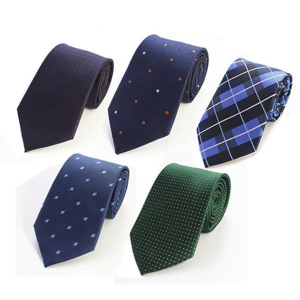 Man Fashion Dot Striped Neckties