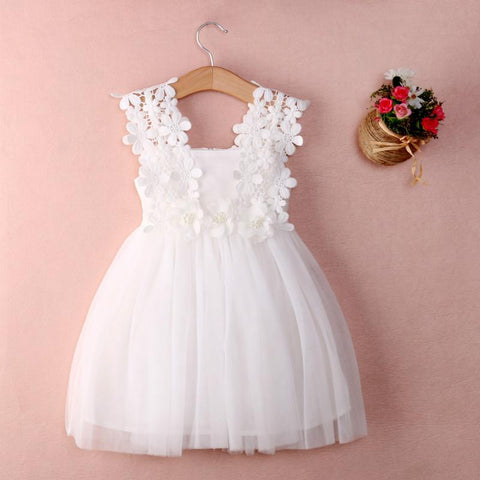 Party Lace Tulle Flower Girls Dress