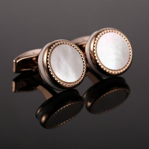 Pearl Cufflinks French Shirt
