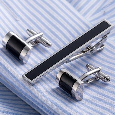 Quality Tie Pin Cuff links Set