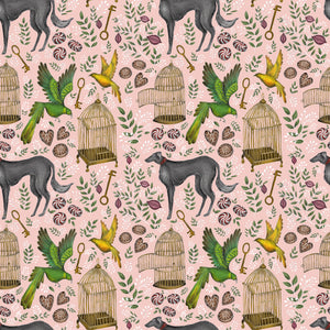 Amsterdam Wallpaper in Peaches & Cream