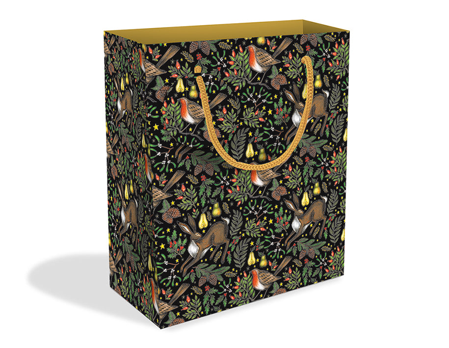 Christmas Garden Medium Gift Bag