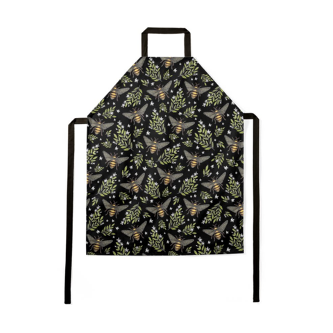 Honey Bee Pattern Luxury Soft Apron - Handmade to Order in London