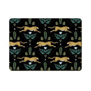 Cheetahs Pattern in Midnight Wooden Placemats - Handmade to order in London