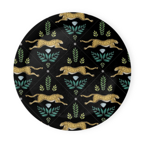Cheetah Pattern in Midnight Black Coaster Set of 4 - Made to Order in London
