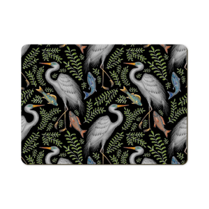 Great Egret Pattern Wooden Placemats - Handmade to order in London