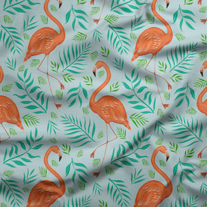 Flamingo Pattern Fabric