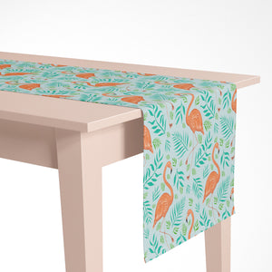 Flamingoes Pattern Luxury Table Runner - Handmade in London - 2 Sizes Available