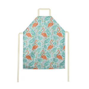Flamingo Pattern Luxury Soft Apron - Handmade to Order in London