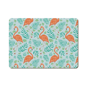 Flamingo Pattern Wooden Placemats - Handmade to order in London