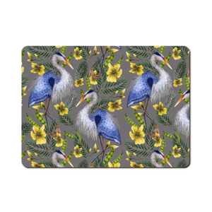 Heron Pattern Wooden Placemats - Handmade to order in London