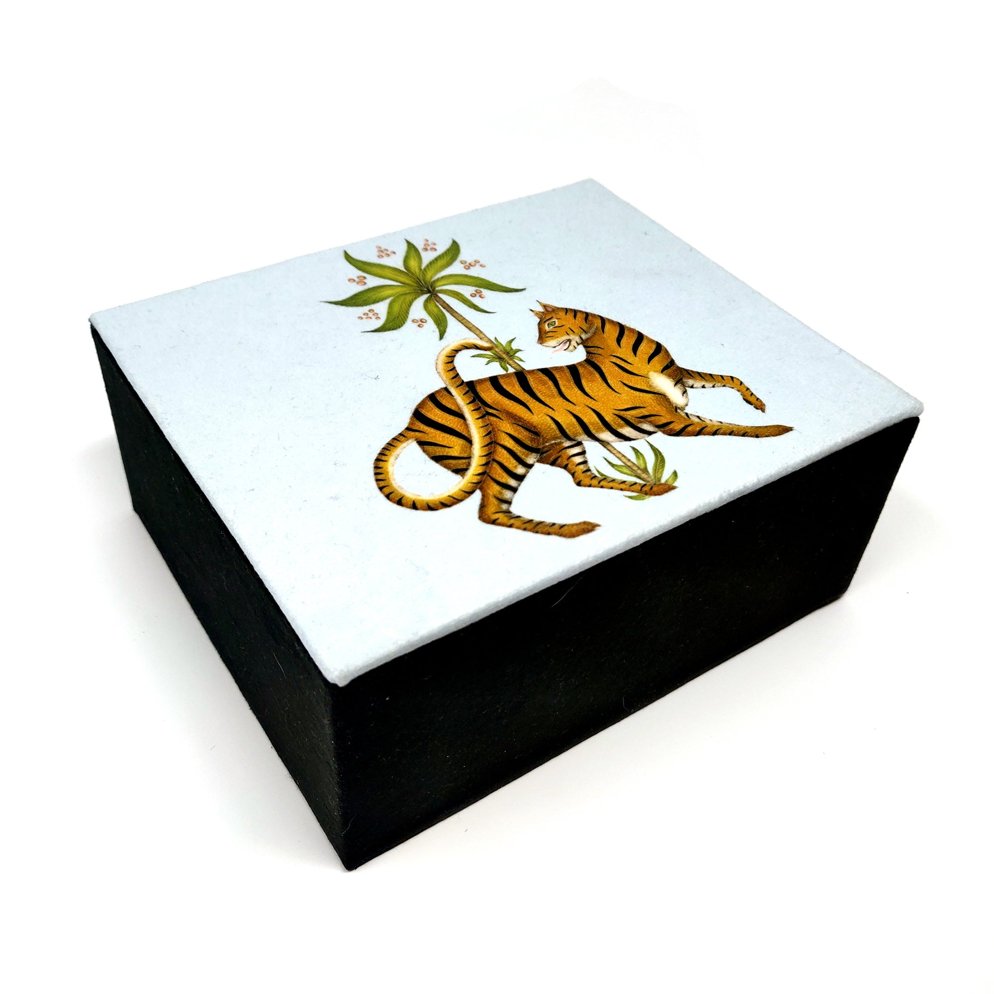 Luxurious Jewellery Box in Tiger & Palms Design