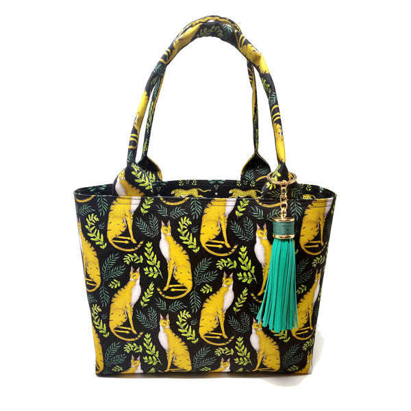 Jungle Cat Pattern 100% Cotton Tote Bag