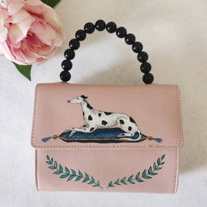 Custom Listing - Personalised Spotty Dog Handpainted Bag