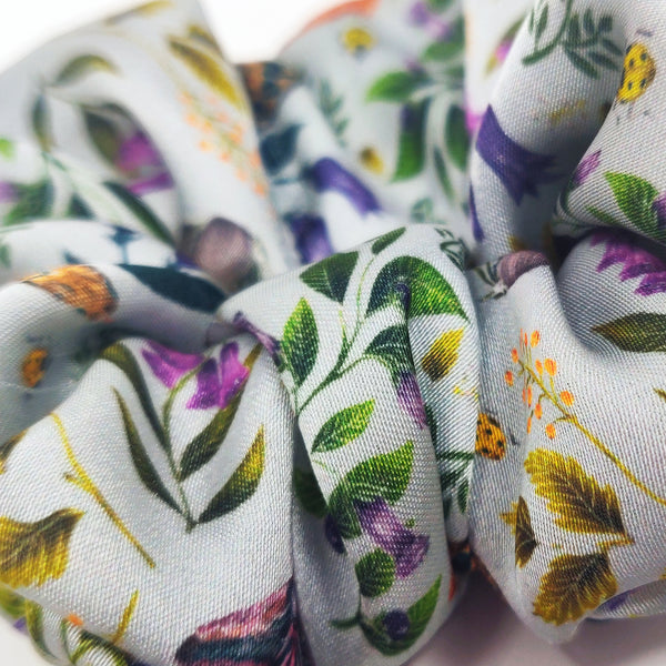 Poisonous Pattern - Vegan Silk Scrunchie - Portion of Profits Donated to NHS