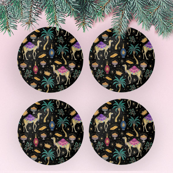 Jewelled Christmas Coaster Set - Mix & Match - Made to Order in London