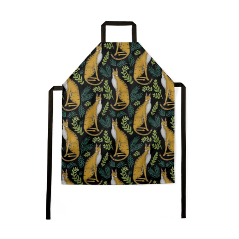 Jungle Cat Pattern Luxury Soft Apron - Handmade to Order in London