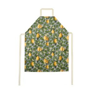 Lemon Pattern Luxury Soft Apron - Handmade to Order in London