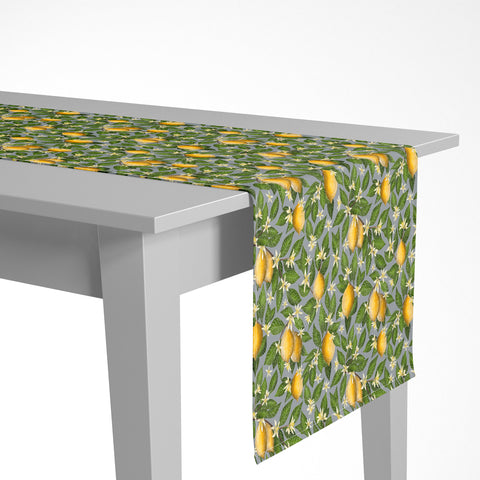 Lemon Grove Pattern Luxury Table Runner - Handmade in London - 2 Sizes Available