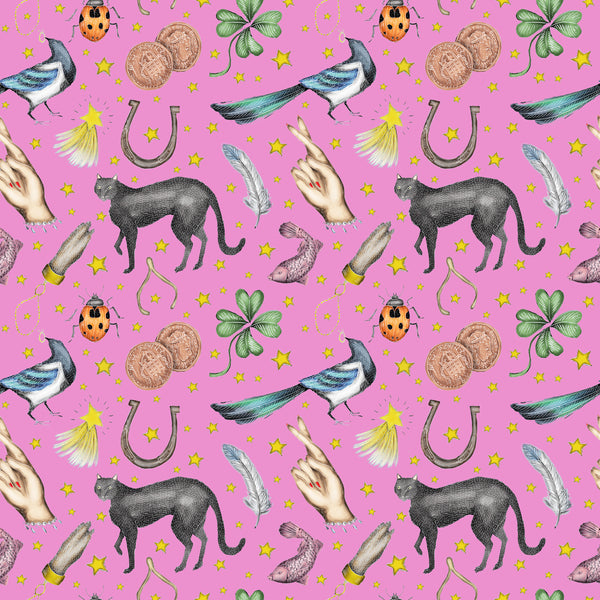 Lucky Pattern Fabric in Candy Pink
