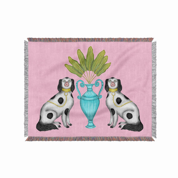 Miami China Dogs 100% Cotton Woven Blanket Throw