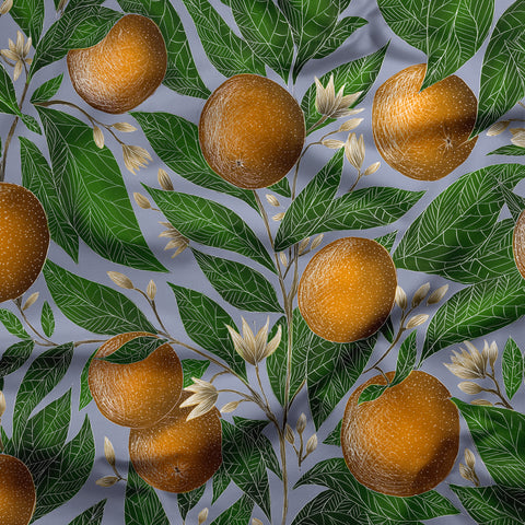 Orange Blossom Pattern Fabric