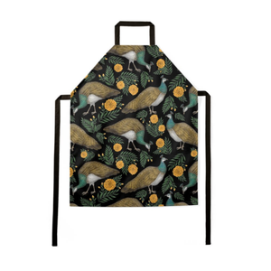 Peahen Pattern Luxury Soft Apron - Handmade to Order in London