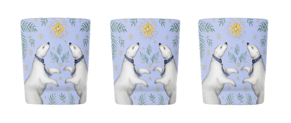 Polar Bear Tea Light Holders - Singular or Set of 3 - Made in London