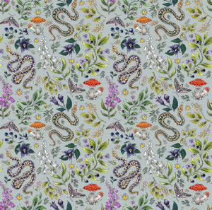 Poison Pattern in Eau de Nil Wallpaper
