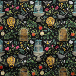 Secret Garden Pattern Fabric
