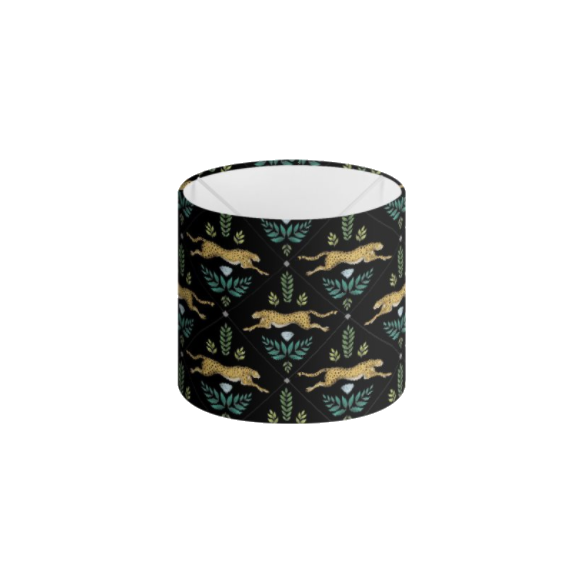Cheetah Pattern in Midnight Black Handmade to order Lampshade - 3 Sizes Available