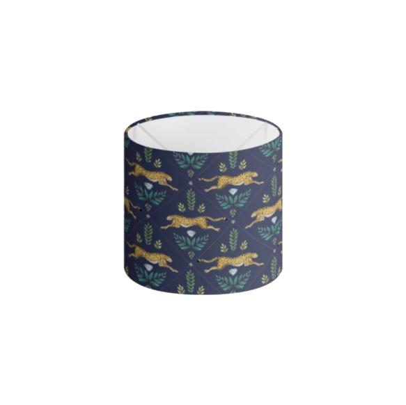 Cheetah Pattern in Navy Blue Handmade to order Lampshade - 3 Sizes Available