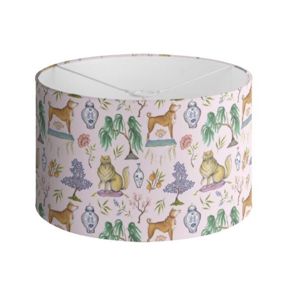 Chinoiserie Menagerie in Blossom Pink Handmade to order Lampshade - 3 Sizes Available