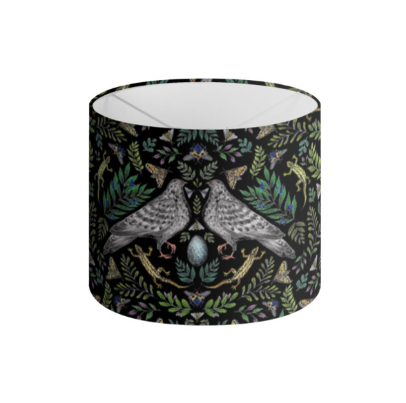 Doves Pattern Handmade to order Lampshade - 3 Sizes Available