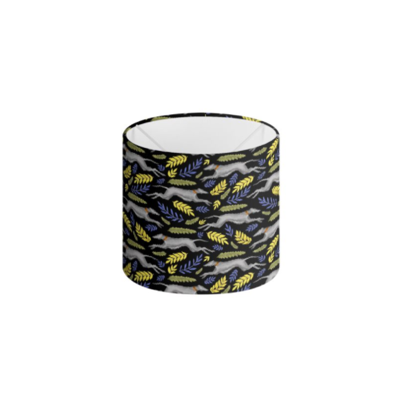 Greyhound Pattern in Midnight Black Handmade to order Lampshade - 3 Sizes Available