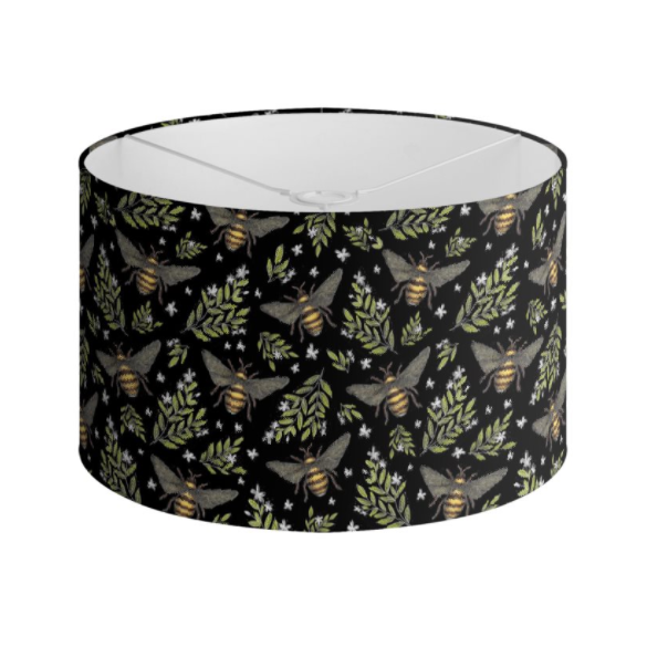 Honey Bee Pattern Handmade to order Lampshade - 3 Sizes Available