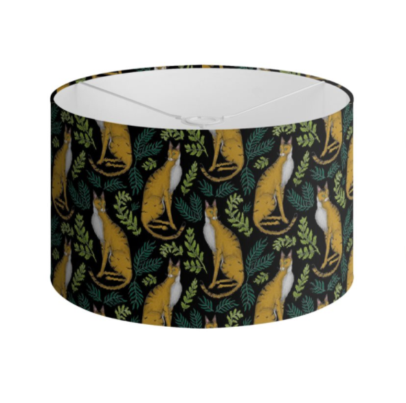Jungle Cat Pattern Handmade to order Lampshade - 3 Sizes Available
